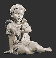 Скульптура ангела из искусственного мрамора. Скульптура Ангел с воробышком из полимербетона 45 см