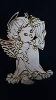 "Заготовка из дерева ""Ангел с ракушкой"" 12/10 (цена за 1 шт. +2 грн.)"
