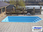 "Стационарный стекловолоконный бассейн ""Олимпик"" ПРЕМИУМ 8,40х3,60х1,55 м, фото 2"