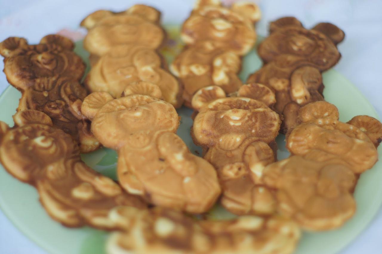 фото готового печенья олимпийский мишка из формы вид сбоку