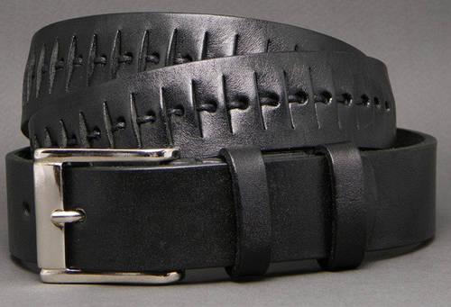 Современный женский ремень из натуральной кожи Чешуя 3,5 см Svetlana Zubko S35106 черный