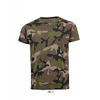 Мужская футболка с коротким рукавом SOL'S CAMO MEN, цвет камуфляж