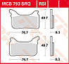 Комплект усиленных тормозных колодок для мотоциклов TRW / Lucas MCB793RSI
