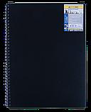 Блокнот А6 80л CLASSIC пружина сбоку, пластик. обл., фото 2