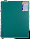 Блокнот А6 80л CLASSIC пружина сбоку, пластик. обл., фото 3