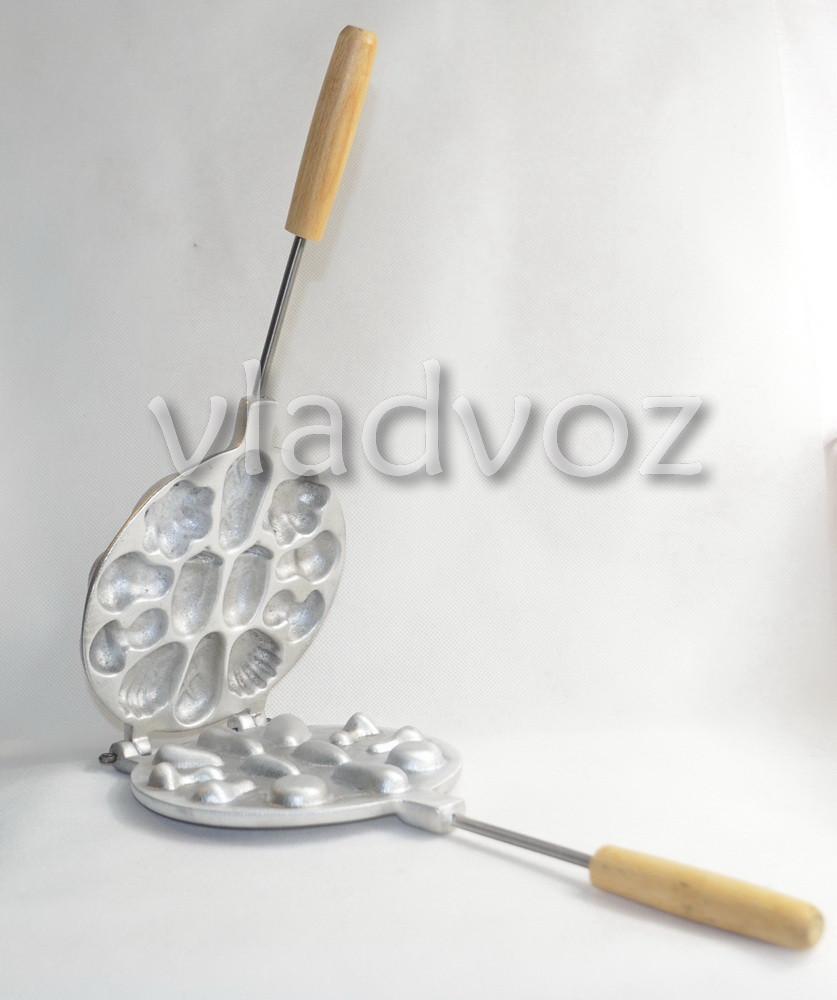 Алюминиевая форма для печенья ассорти вид сбоку