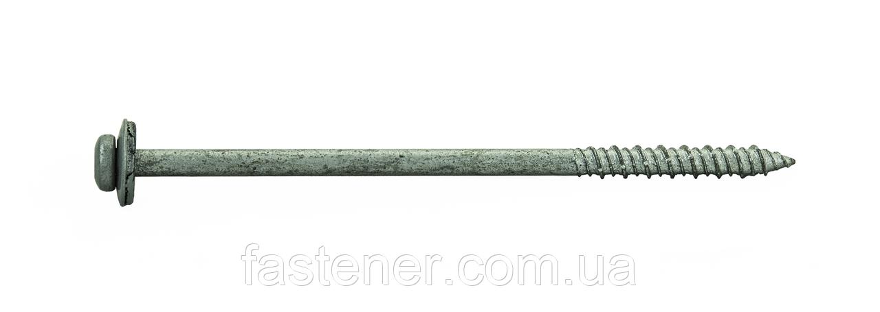 Шуруп по бетону для сендвіч-панелей 7,5х150 RAL 9006, з шайбою EPDM, (упак-400 шт), Швеція