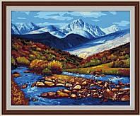 Раскраска по цифрам Горная речка (G087) 40 х 50 см