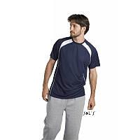 Спортивная футболка мужская двухцветная SOL'S MATCH, цвета в ассортименте, фото 1