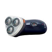 Бритва электрическая Vitek VT-1373 B / Сухое бритье / Роторная (вращательная) система / 3 бритвенных головки / Работа от аккумулятора / Blue