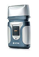Бритва электрическая Vitek VT-1372 / Сухое-влажное бритье / Сеточная (вибрационная) система / 2 бритвенные головки / Работа от аккумулятора / Чистка