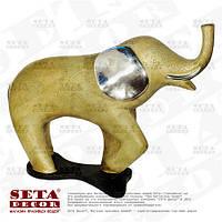 """Миниатюрная скульптура """"Слон"""" каменная крошка (статуэтка, фигурка)."""