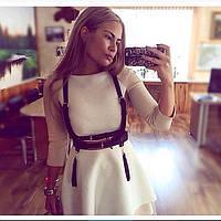 Платье, юбка, Портупеи из натуральной кожи