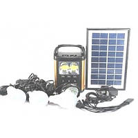 Портативный фонарь с солнечной батареей и 3 лампочками GDLITE GD-8131