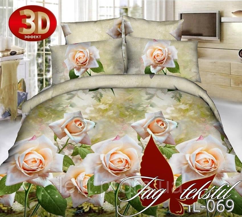 Полуторный комплект постельного белья TAG 3D HL069