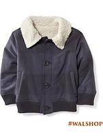 Куртка для мальчика синяя с белым воротом Old Navy 5т.