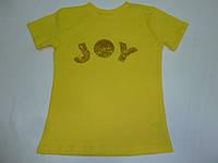 Детская футболка с пайетками JOY