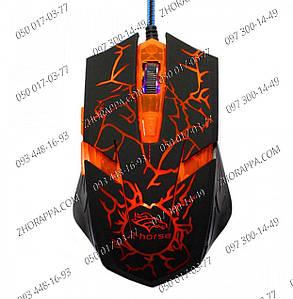 Игровая мышка, подарок для игрока, Проводная игровая мышь FC-1688, расширение от 800 до 3200 dpi, Led, Usb 2.0