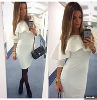 Женское платье с воланами