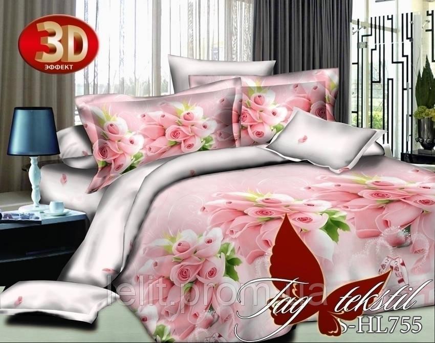 Евро-maxi комплект постельного белья TAG 3D PS-HL755