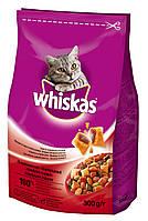 Whiskas сухой корм с говядиной для взрослых кошек 300 г