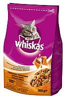 Whiskas сухой корм с курицей для взрослых кошек 300 гр