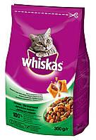Whiskas сухой корм с ягненком для взрослых кошек 300 гр