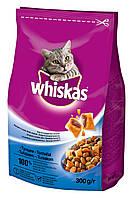 Whiskas сухой корм с тунцом для взрослых кошек 300 г