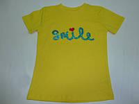 Желтая футболка с пайетками Smile, фото 1