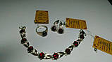 Серебряный браслет Зар-068 с накладками золота, фото 5