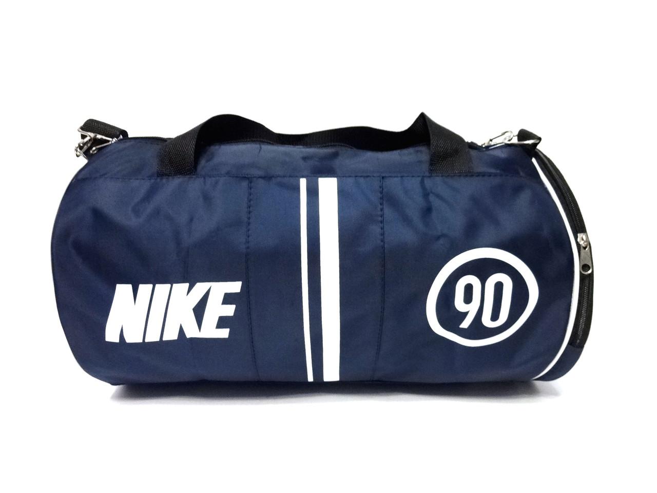 Темно синяя спортивная сумка Nike 90, цилиндр туба реплика