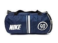 Темно синяя спортивная сумка Nike 90, цилиндр туба реплика, фото 1