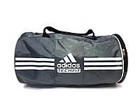 Adidas Techfit серая спортивная сумка цилиндр реплика, фото 1