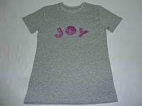 Серая футболка с пайетками JOY