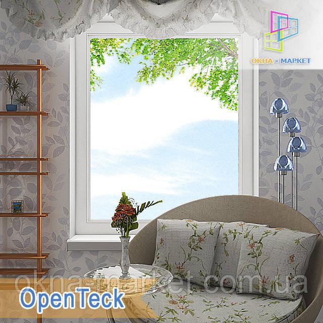 """Пластикові одностулкові глухі вікна 800x1400 Openteck """"Вікна Маркет"""""""