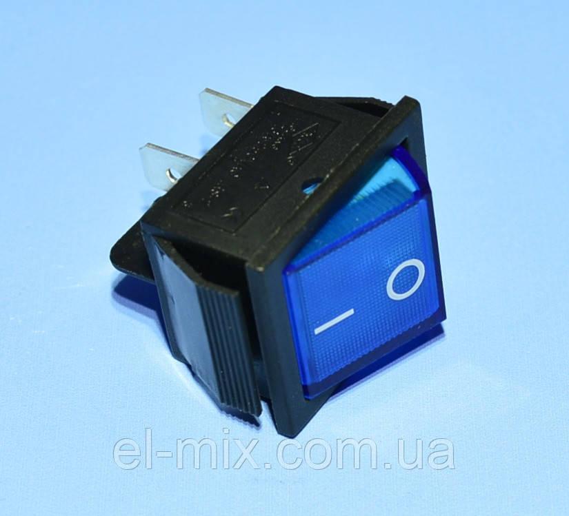 Вимикач 220В KCD2-201N синій 2-групи ON-OFF, Daier