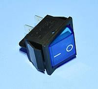 Выключатель 220В  IRS-201-1A с фиксацией синий 2-группы ON-OFF  PRK0006C