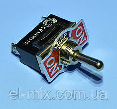 Тумблер KN3(C)-103  3pin ON-OFF-ON  PRK0030-3