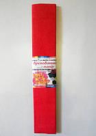 Крепированная бумага №14  цвет: ярко-красный