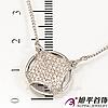 Подвеска родиум ''Широкий икс''в очень мелкие камни, (45 см)