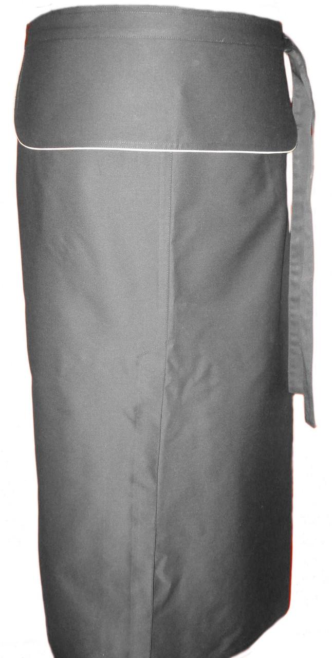 Фартук для официанта, бармена, поварской с клапаном серый 75 см Atteks - 00312