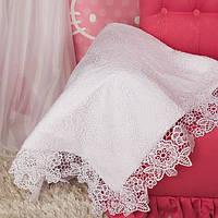 Одеяло для выписки новорожденного от Miminobaby Глория (Глафира) белое