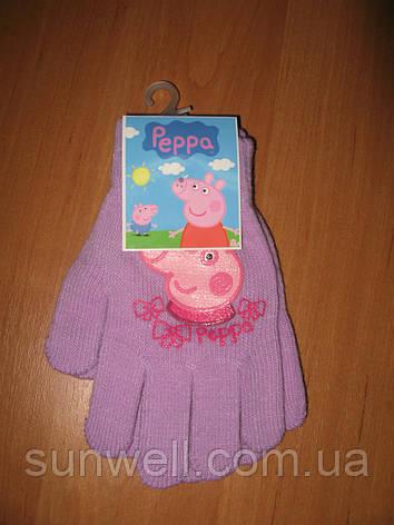 Рукавички для дівчаток Пеппа, 16см, фото 2