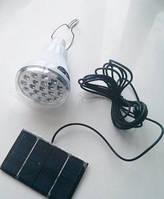 Кемпинговый светильник c зарядкой от солнечной батареи GR-020
