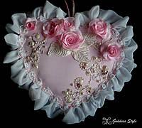 """Сердце ручной работы """"Счастливая любовь"""", эксклюзивный декор в спальню"""