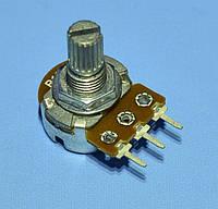 Резистор переменный Lp   B10KOm  L-15мм прямой  PRK0062