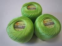 Пряжа для ручного вязания Ирис (хлопок) зелень