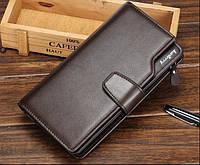 Стильный мужской кошелек клатч Baellerry Business коричневый