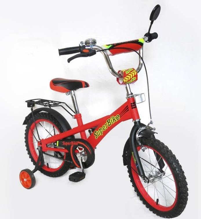 """Двухколесный детский велосипед 16 дюймов 151606 """"Super Bike"""""""
