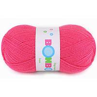 Пряжа для ручного вязания Bonbon Ince. Цвет: ярко-розовый.